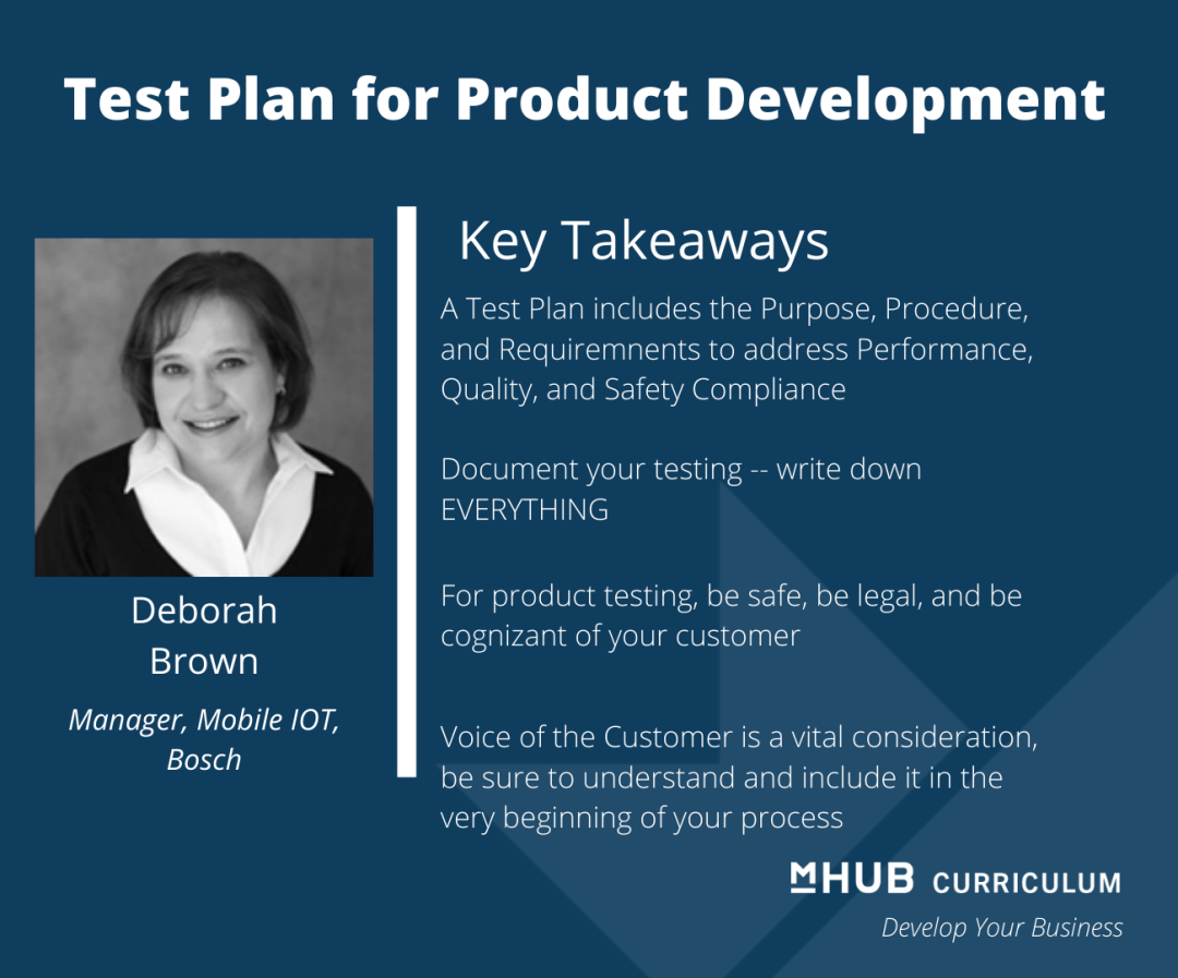 Deb Brown on how to prepare for testing in product development