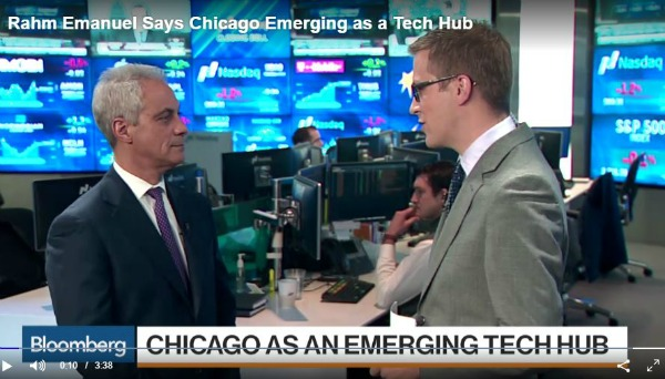 Mayor Emanuel Promotes mHUB as Part of Chicago's Tech Economy