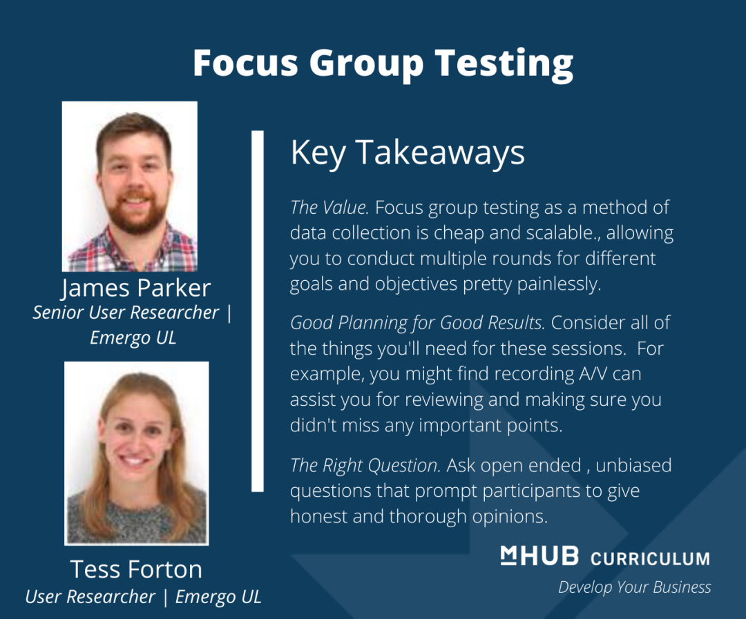 Using Focus Groups to Help Answer the Challenges Your Startup is Facing with UL