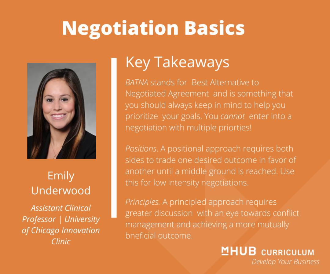 Negotiation Basics for Entrepreneurs with Emily Underwood