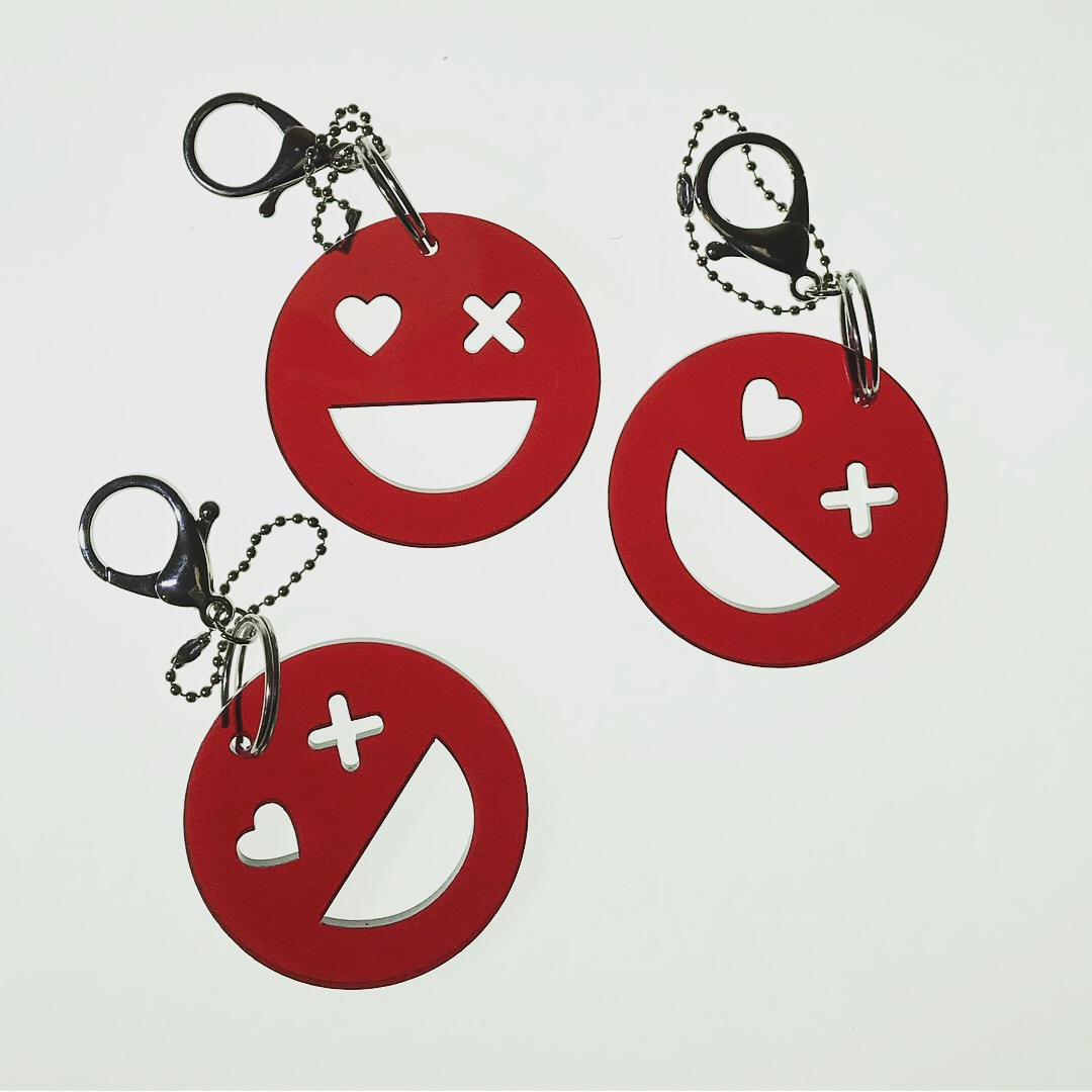 Laser cut key chain
