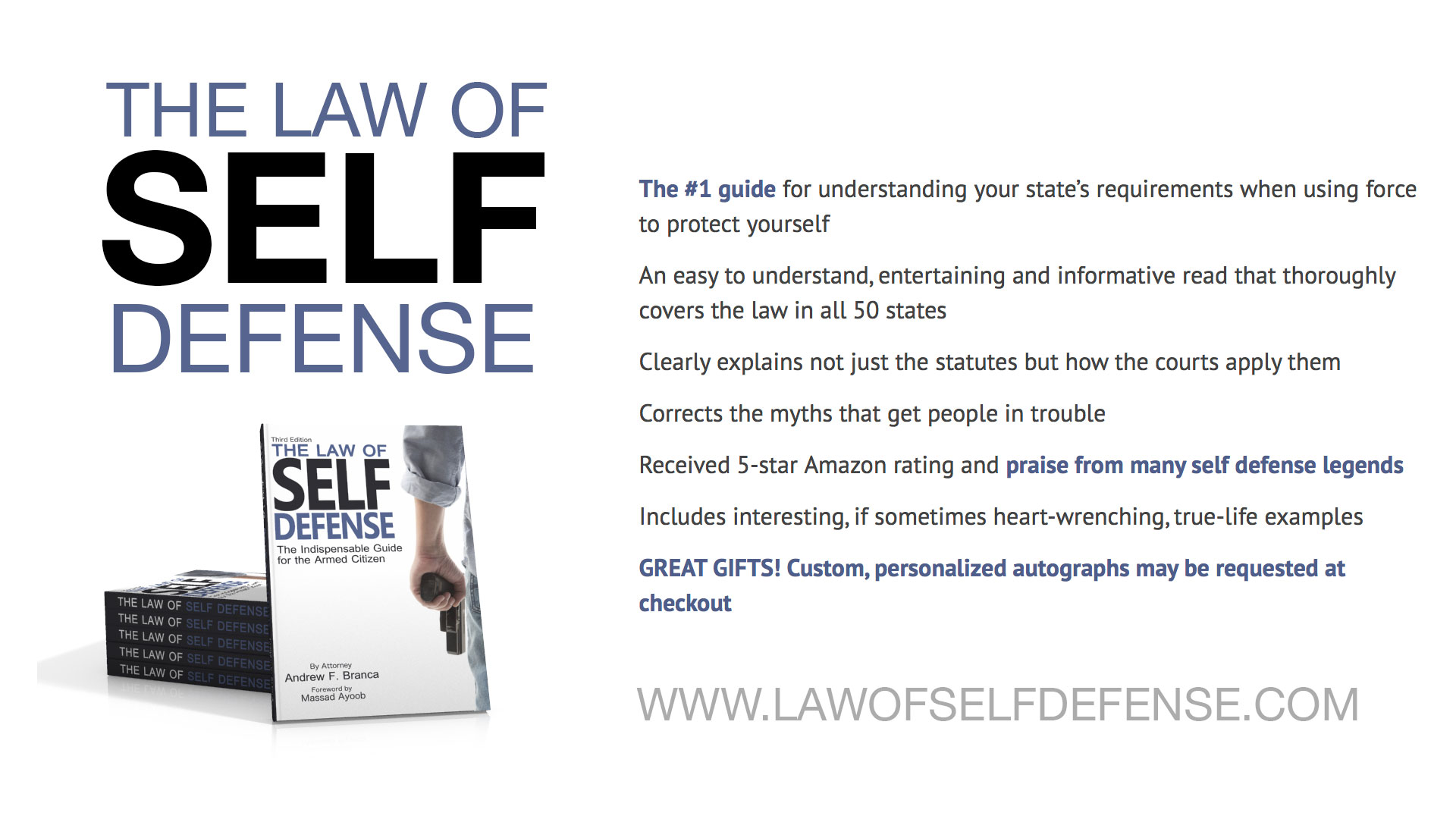 New Partnership with Andrew Branca- Law Of Self Defense