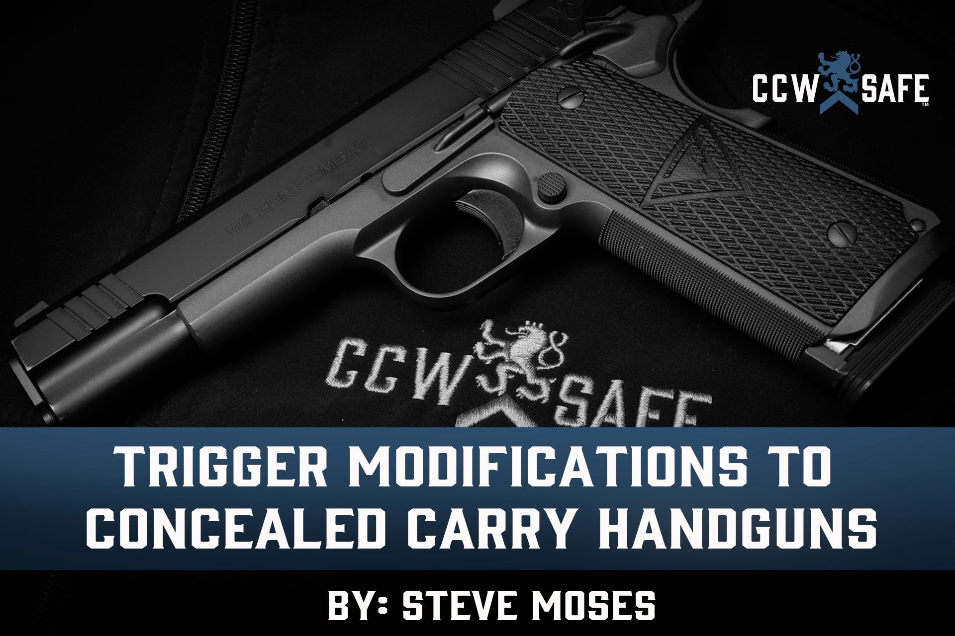 TRIGGER MODIFICATIONS TO CONCEALED CARRY HANDGUNS