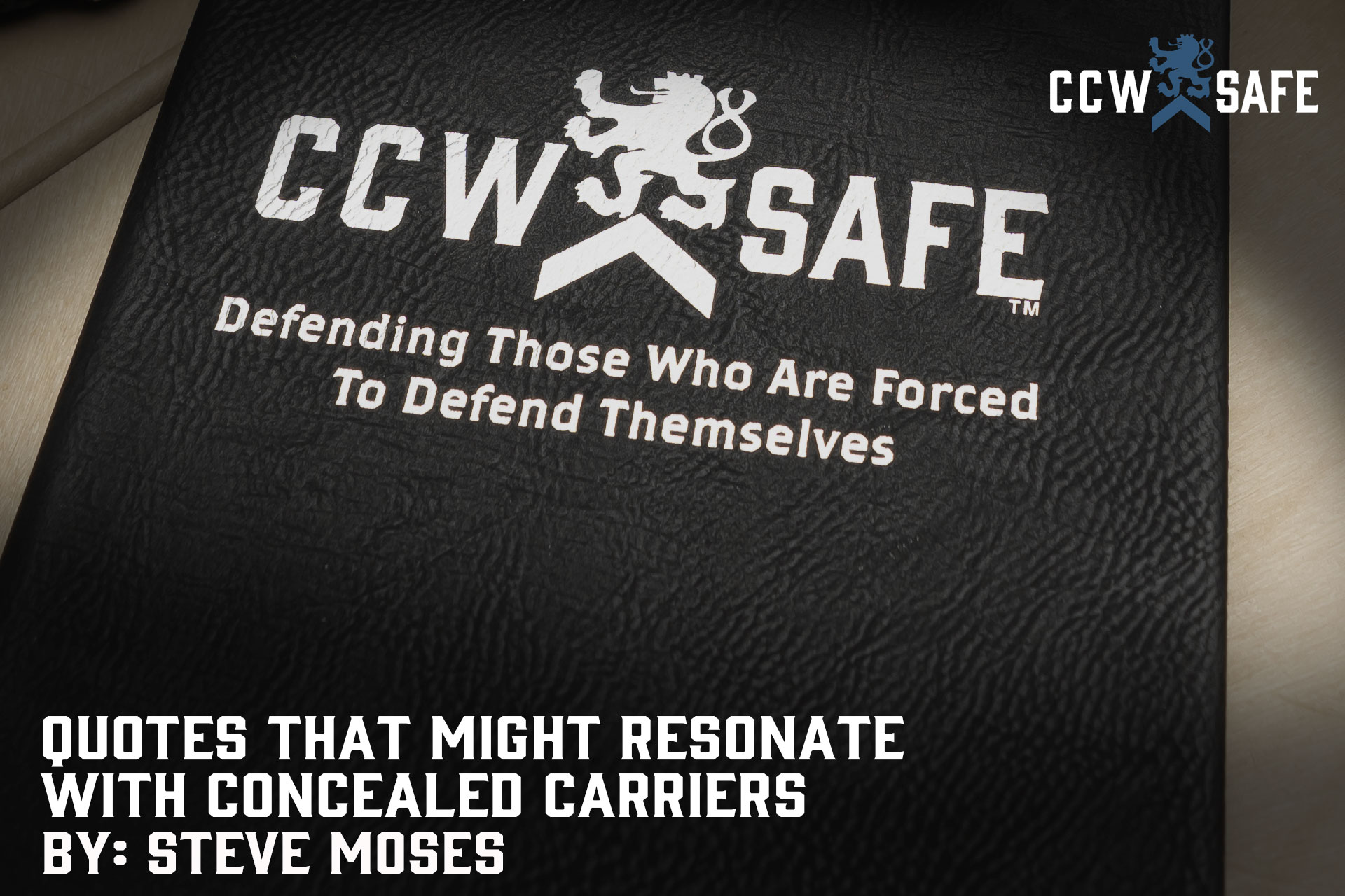 QUOTES THAT MIGHT RESONATE WITH CONCEALED CARRIERS
