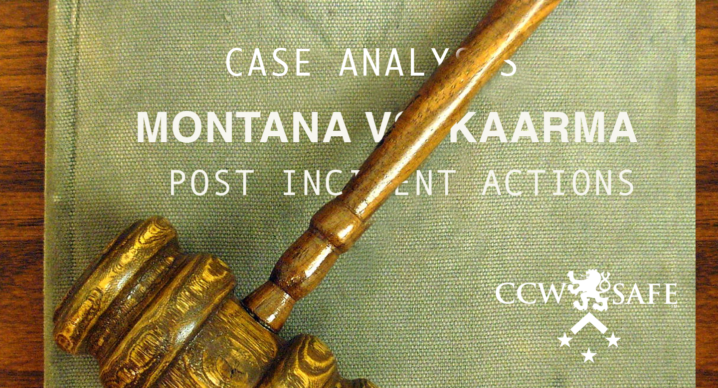 Four Shots In The Dark: Case Analysis of the Kaarma case- Post Incident Actions