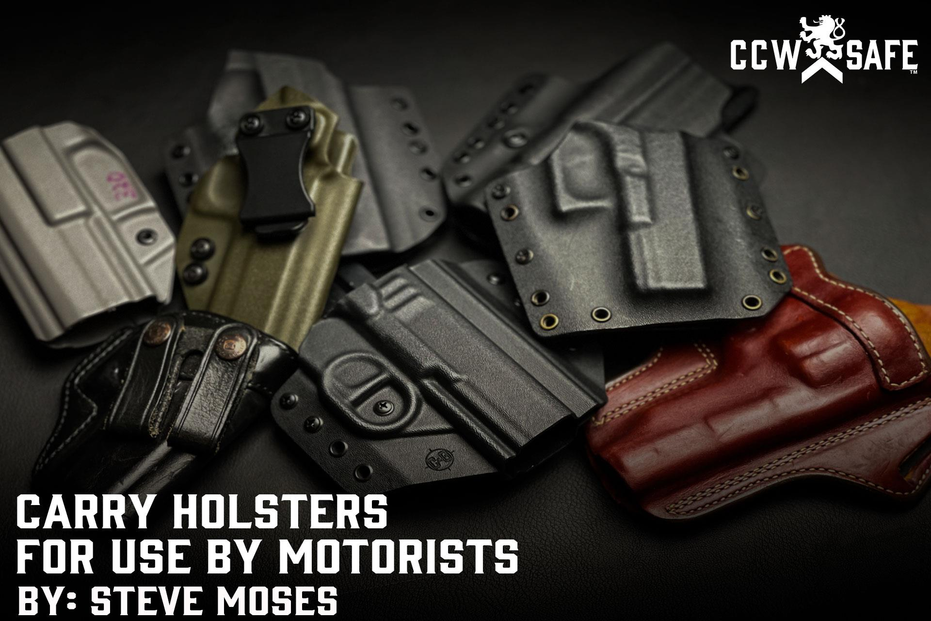 Carry Holsters For Use By Motorists