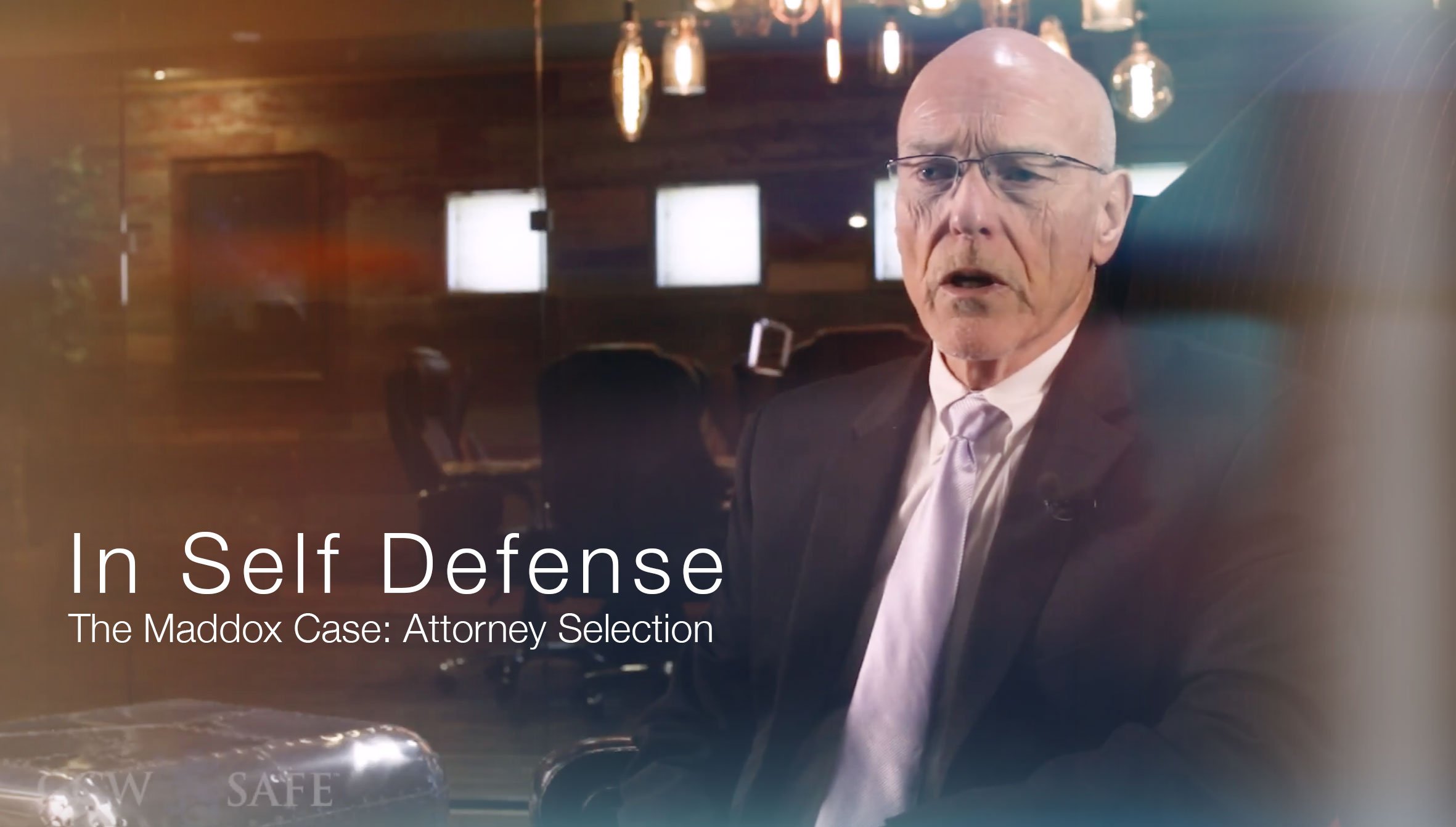 In Self Defense: The Maddox Case- Attorney Selection