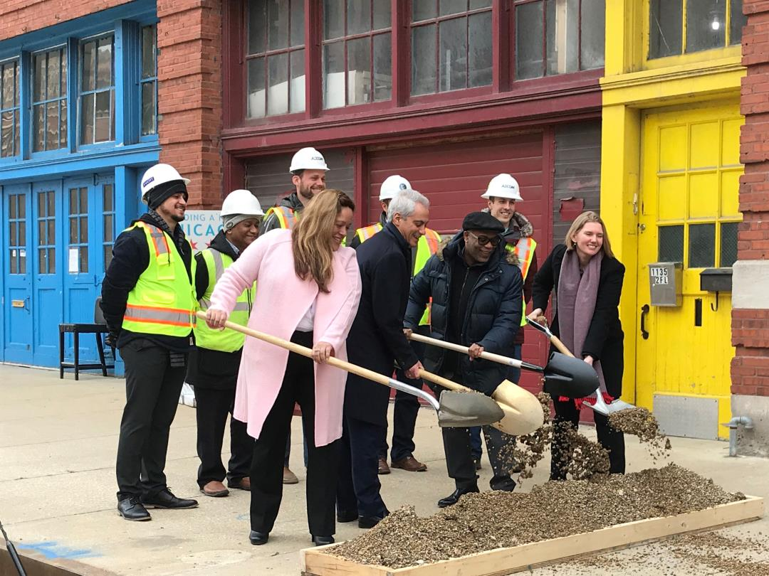 Groundbreaking for Phase II of Fulton Market Streetscape