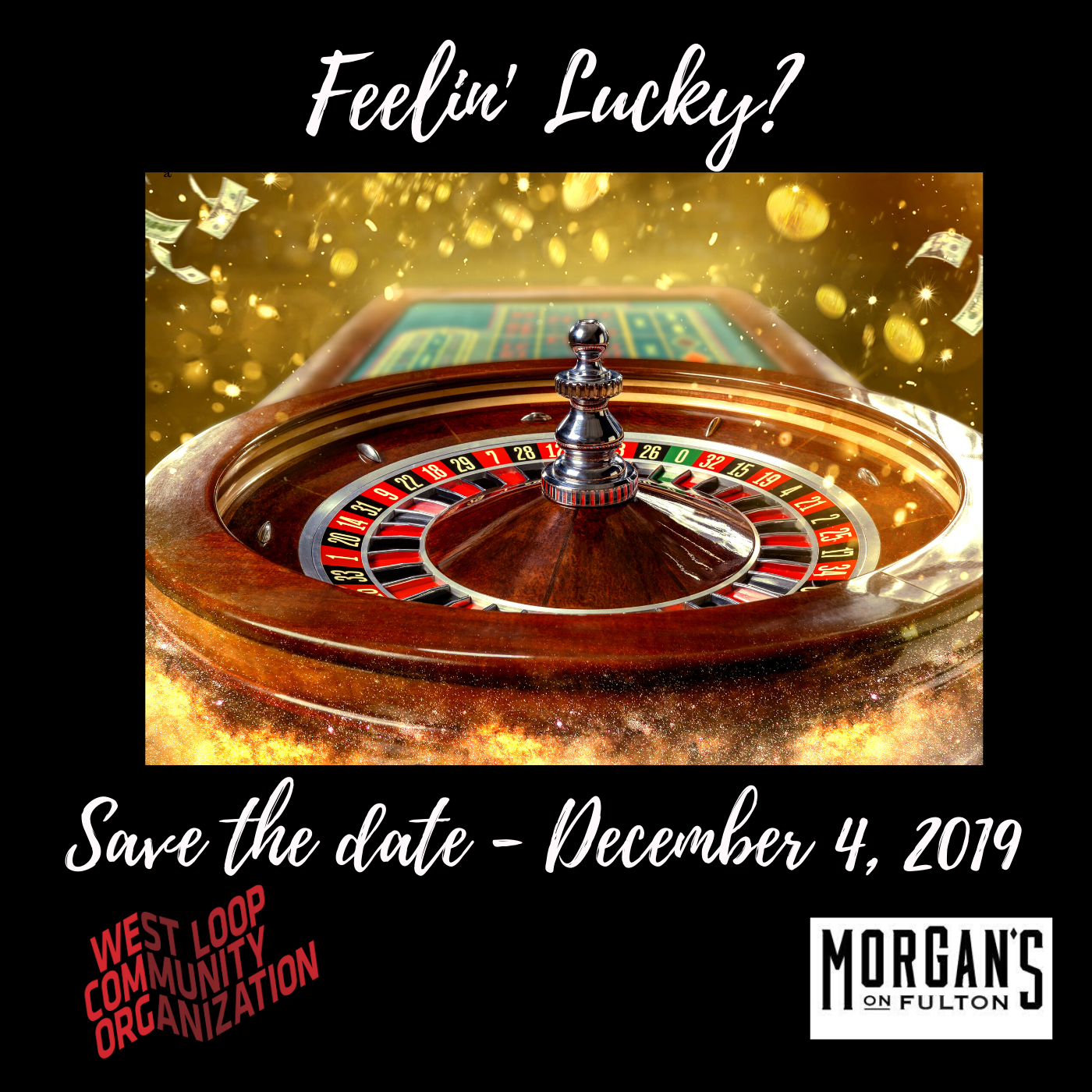 Feelin Lucky? Save The Date For Our Holiday Party!
