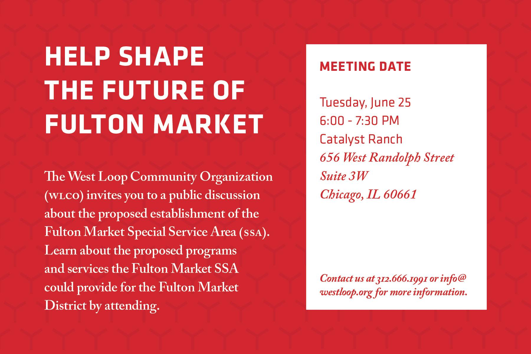 Help Shape the Future of Fulton Market: SSA Meeting #3