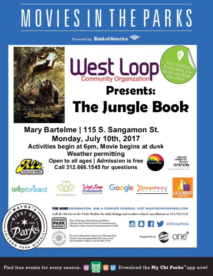 Movies in the Park: The Jungle Book July 10