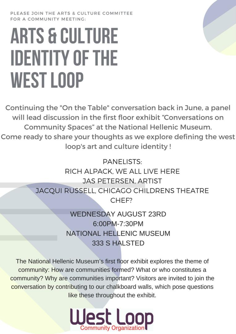 Arts & Culture Identity of the West Loop