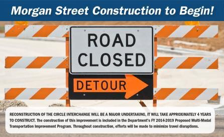 Morgan Street Bridge, Ramp Remain Closed for Circle Interchange Project
