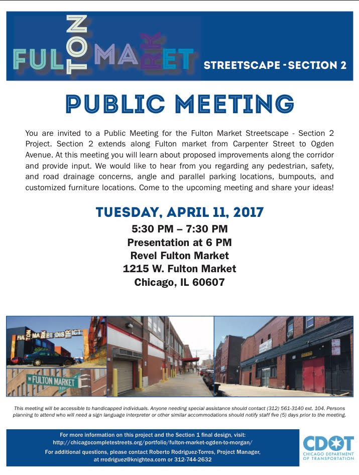 Public Meeting for the Fulton Market Streetscape