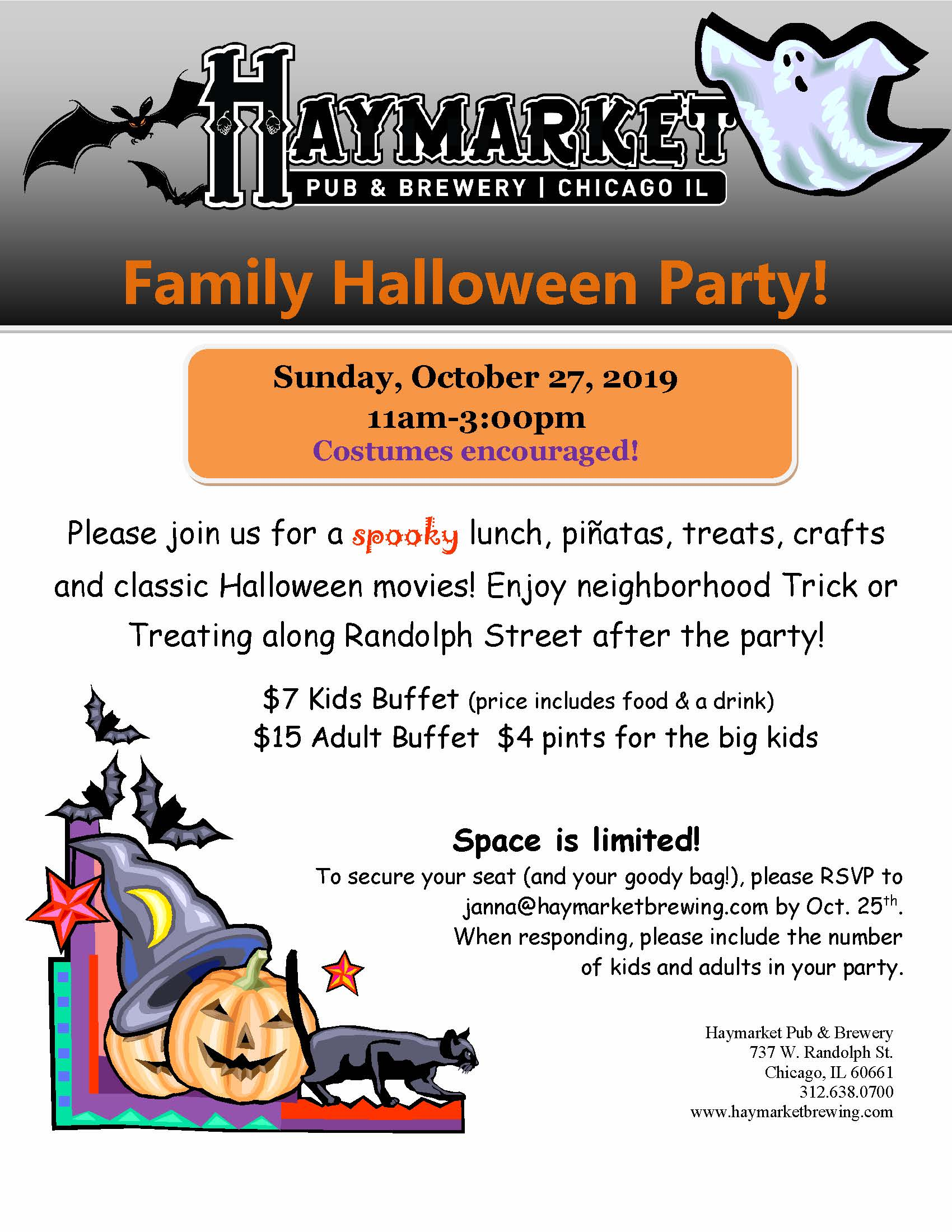 Family Halloween Party @ Haymarket Pub & Brewery