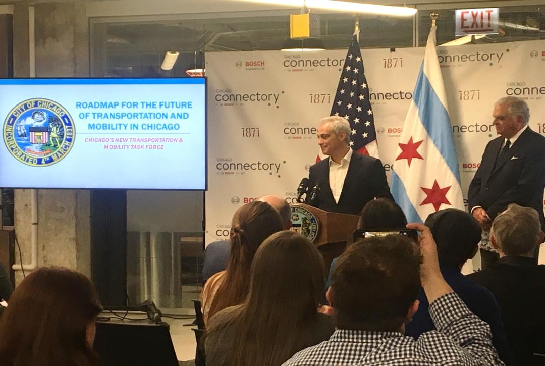 Mayor Rahm Emanuel Shares Roadmap for Mobility in Chicago
