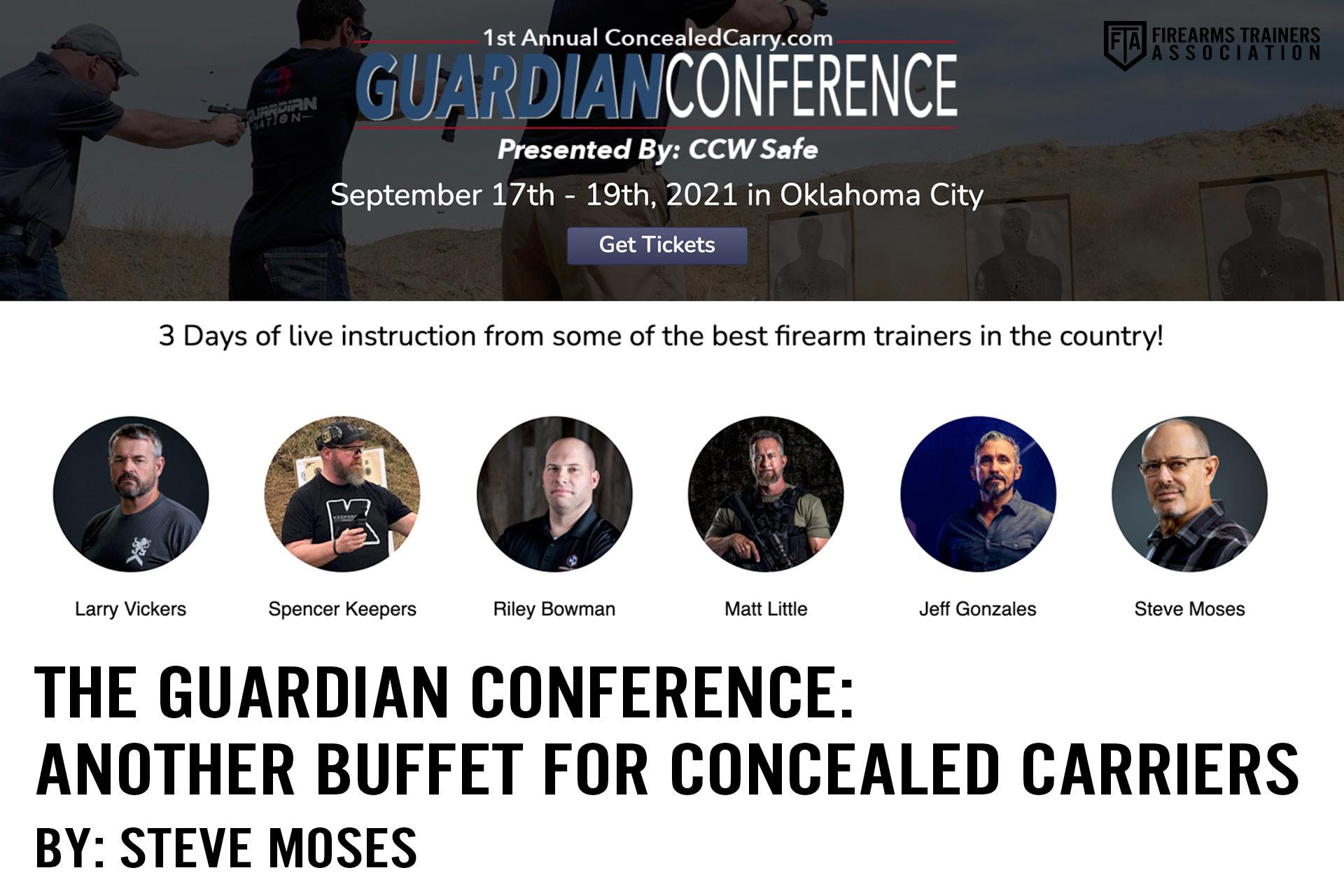 THE GUARDIAN CONFERENCE: ANOTHER BUFFET FOR CONCEALED CARRIERS