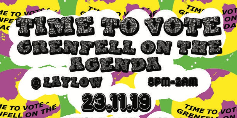 Grenfell On The Agenda w/ Master Peace + JaJa Kisses + Finn Foxell + DJs