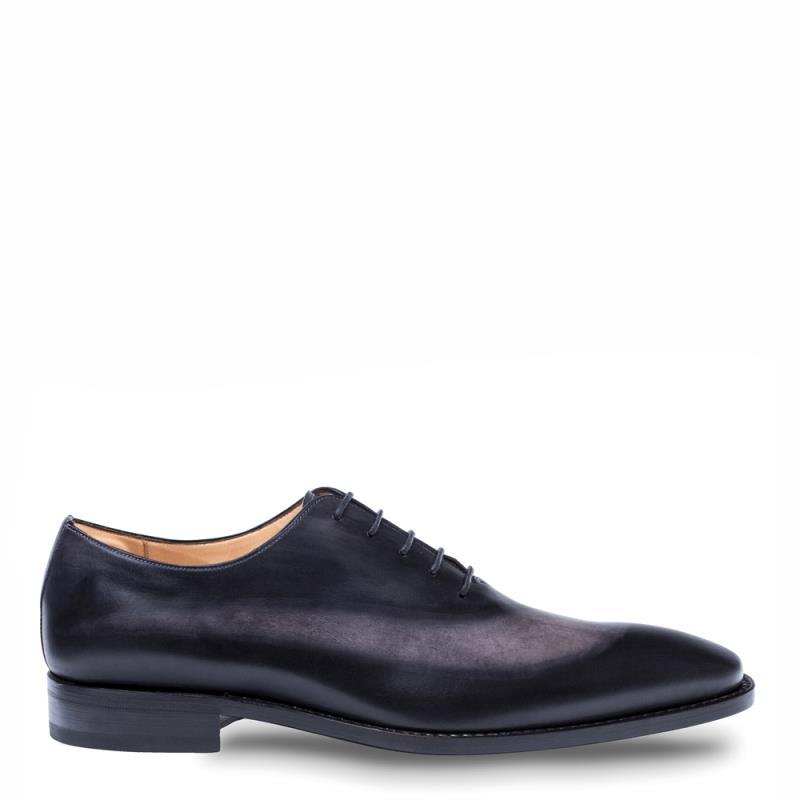 Mezlan Cline Calfskin Lace Up Shoe Graphite Grey 8509