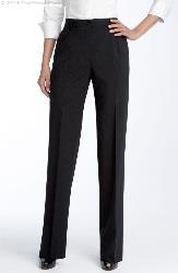Bruno Sartore Ladies Flat front Slacks Made in Italy (Zanella Goldie Fit)