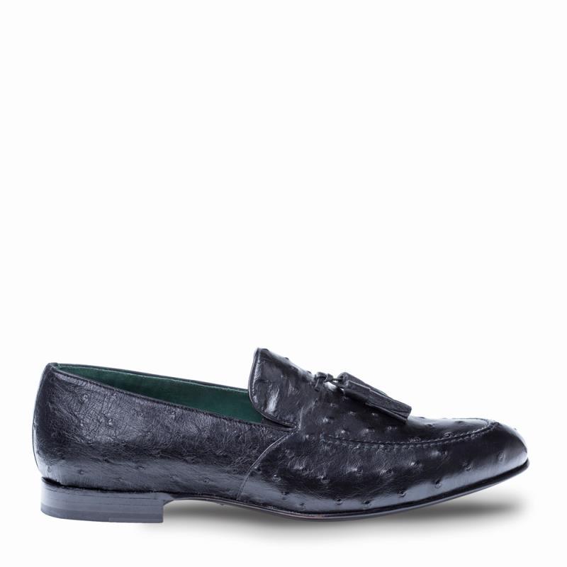 Mezlan Conte Ostrich Slip On Tassled Loafer 4394-S