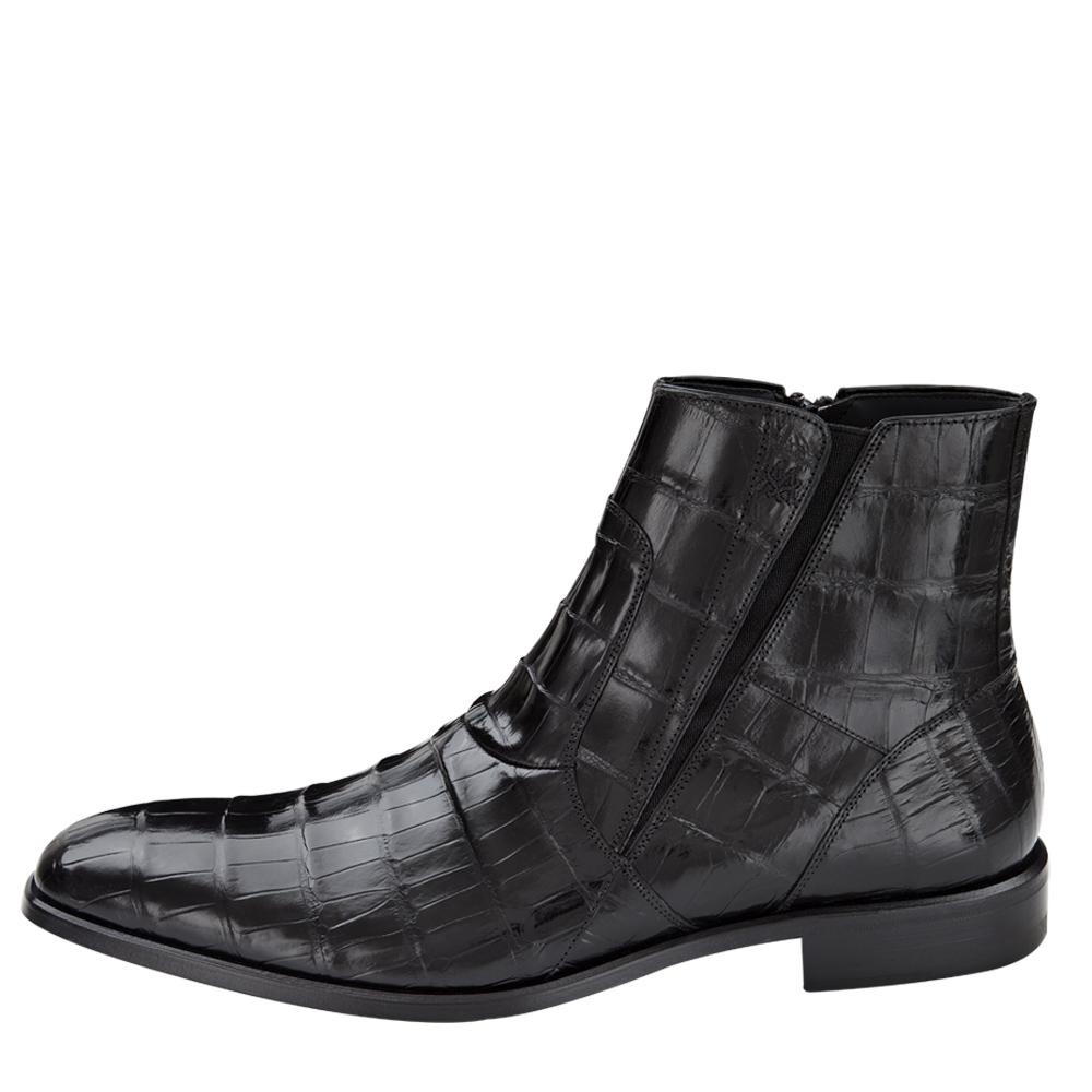 Mezlan Belucci Classic Genuine Alligator Boot Black 3663-J