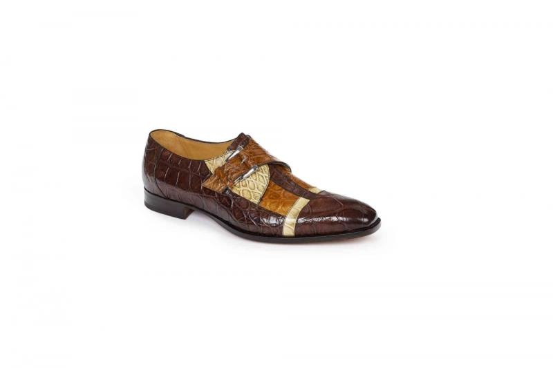 2018 Fall Mauri Ontano Alligator Single Monk Strap Shoe 4841