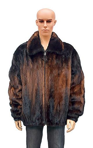 Winter Fur Men's Full Skin Two Shade Mink Jacket BIGS M59R01WKT