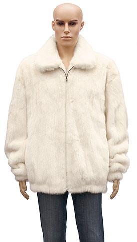 Winter Fur Men's Full Skin Mink White Jacket BIGS M59R01WTT