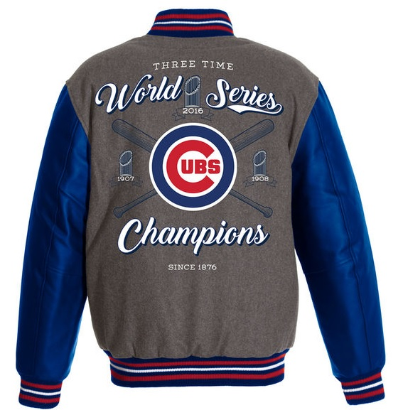 2016 Chicago Cubs World Series Champions Sleeves Jacket BIGS