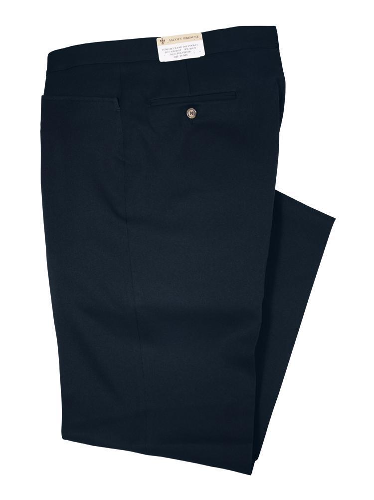 Ascott Browne Elastic Waistband Twill Western Top Pockets Slack Black