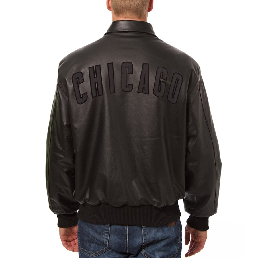 Chicago Cubs JH Design Leather Jacket Black