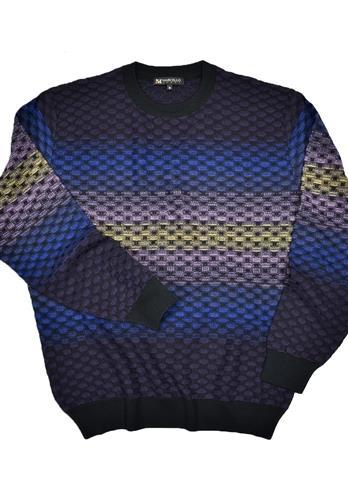 Marcello Crew Neck Knitted Merino Wool Sweater Multi 609