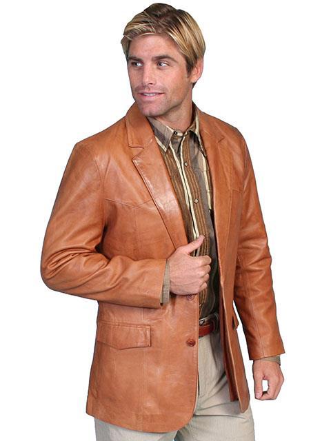 Scully Lambskin Leather Blazer 501