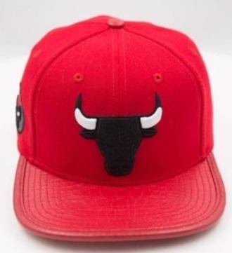 Pro Standard Chicago Chicago Bulls Logo Leather Strap Back