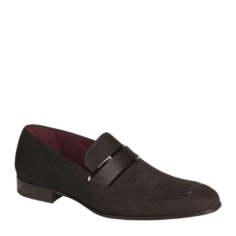 Mezlan Capizzi Patent Leather Slip On Black 6398