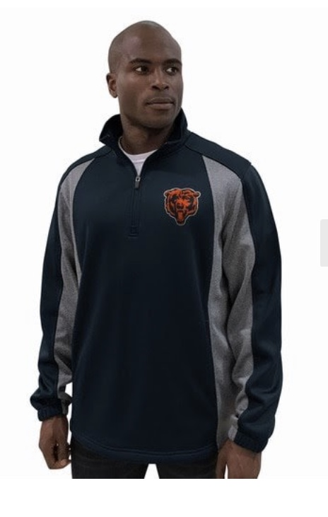 Chicago Bears Light Fleece Pullover Jacket