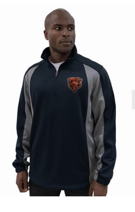 Chicago Bears Light Fleece Pullover Jacket