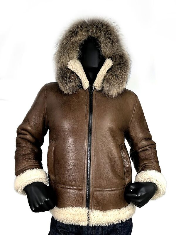 G Gator Jake Wood Shearling Sheepskin Aviator Jacket 800