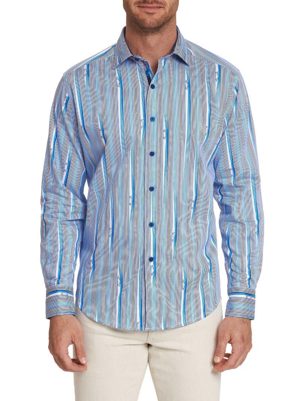 Robert Graham Cruisin Sport Shirt Blue STOCK