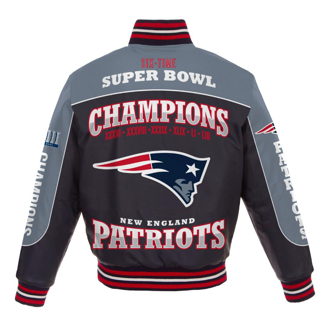 2019 New England Patriots Super Bowl LIII Champions All Leather Lambskin Jacket