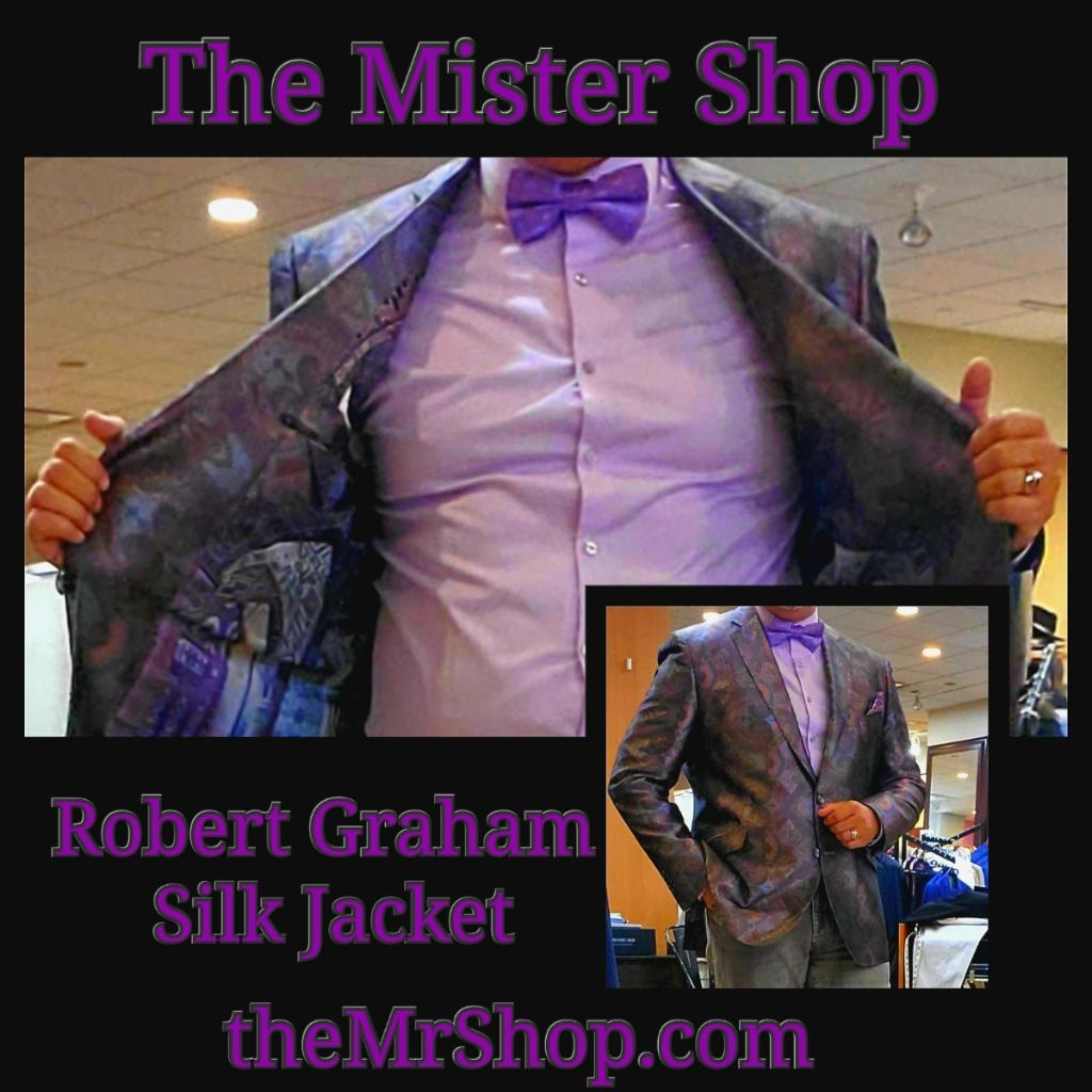 Robert Graham Limited Edition Hidden Lands Silk Sport Coat Multi