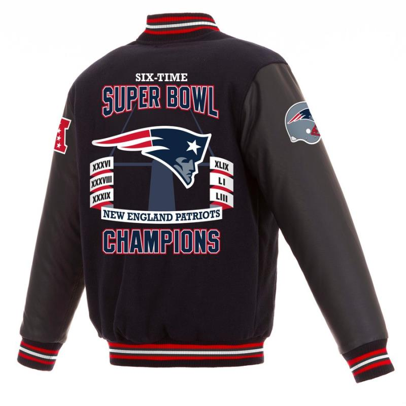 New England Patriots 6 Time Super Bowl LIII Champions Reversible Jacket
