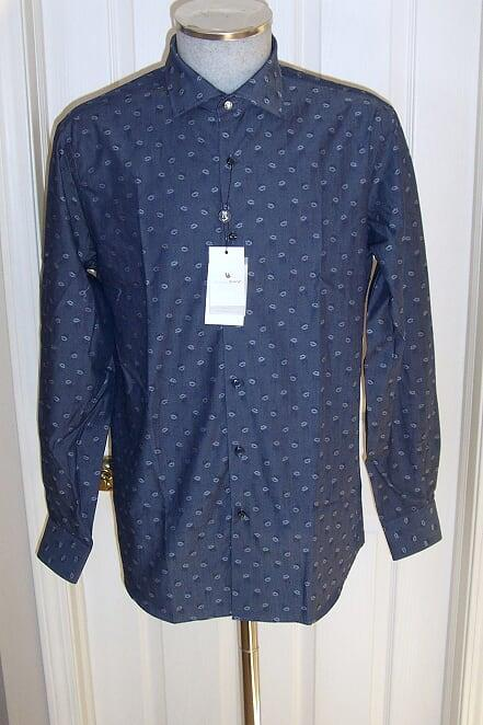Men's Tarcisio Italy Sport Shirt Blue