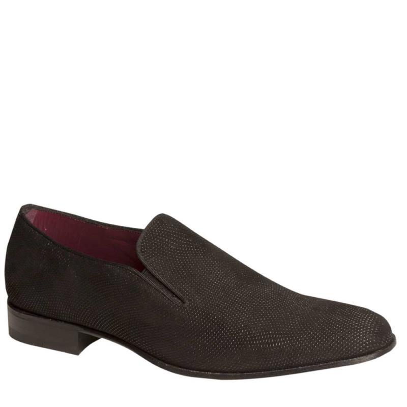 Mezlan Cespi Suede Slip On Shoe Black 5288