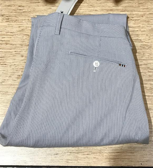 2019 Zanella Noah Casual Cotton Stretch Pants White Blue