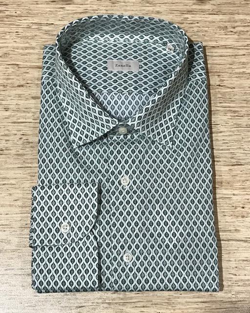Men's Zanella Modern Fit Dress Shirt Green
