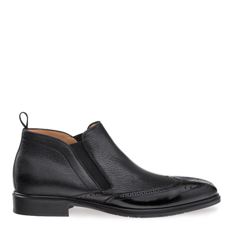 Mezlan Bexley Deerskin Wing Tip Boot Black 9266