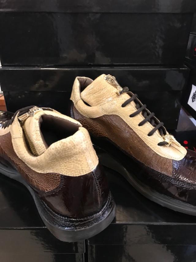 2019 Mauri Ostrich Leg Sneaker Brown Taupe 8814/3