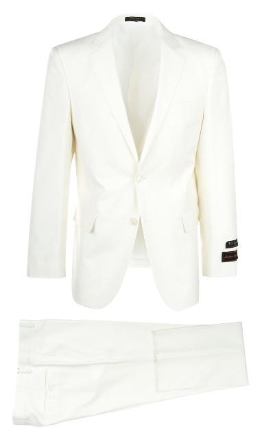 Tiglio Men's Modern Fit White Suit